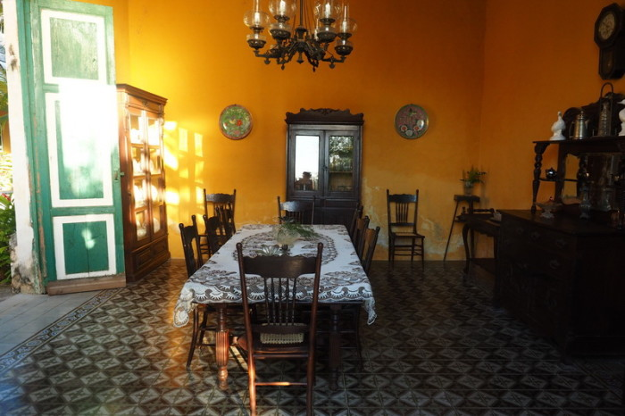 Mexican Road Trip - The Dining Room, Hacienda Yaxcopoil, Yucatan, Mexico