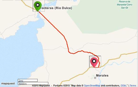 Rio Dulce to near Morales