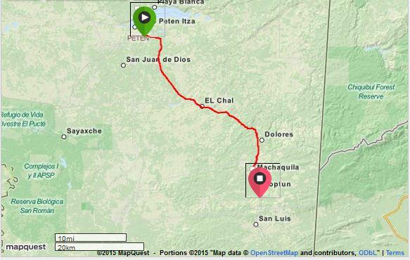 Santa Elena to Finca Ixobel
