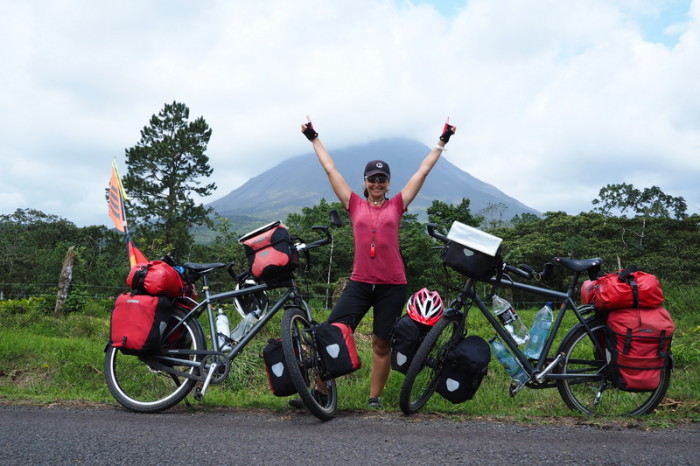 Costa Rica - Jo and Volcano Arenal, Fortuna, Costa Rica