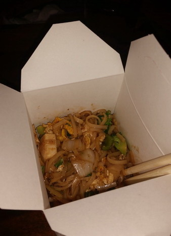 El Salvador - What a rare treat! Asian noodles for dinner at Take a Wok, El Tunco, El Salvador