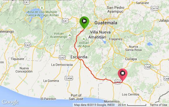 Antigua to Chiquimulilla