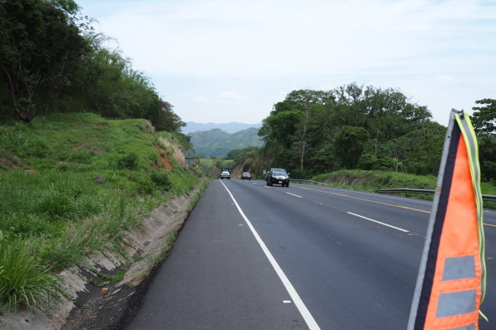 Costa Rica - On the highway to Alajuela, Costa Rica - thankfully we had a huge shoulder!
