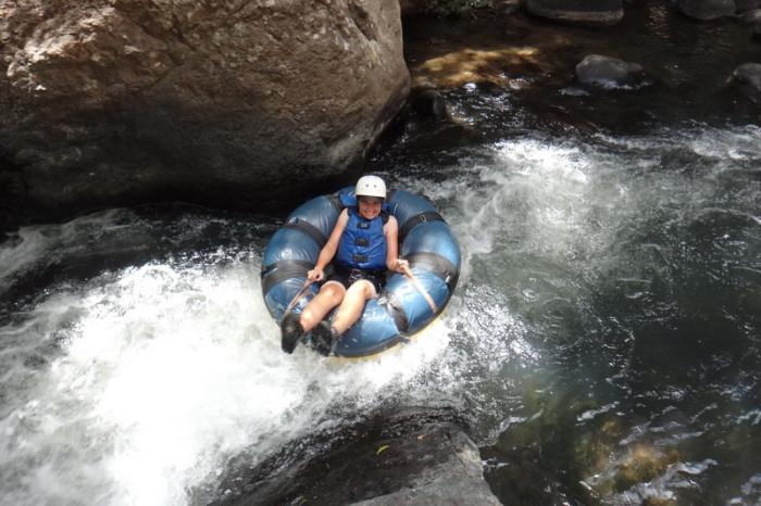 Costa Rica - Jo tubing down the Rio Negro, Rincón de la Vieja, Guanacaste, Costa Rica