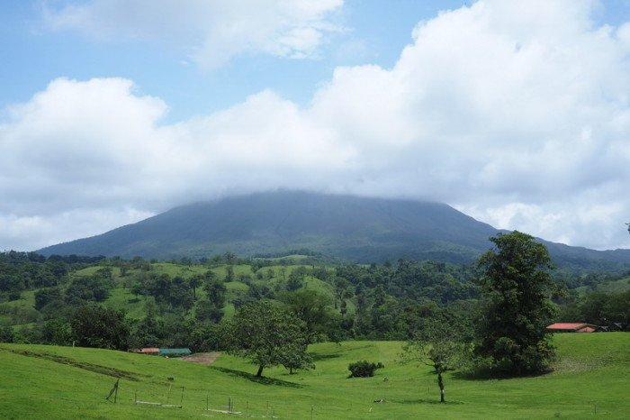 Costa Rica - Volcano Arenal covered in clouds, Costa Rica