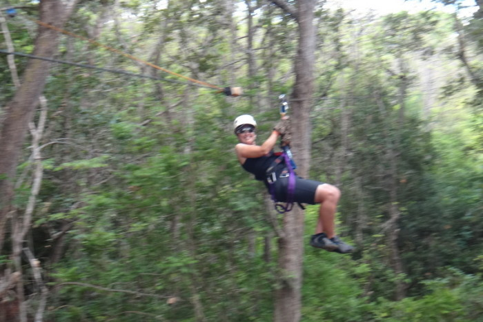 Costa Rica - Jo on the Canyon Canopy Tour!