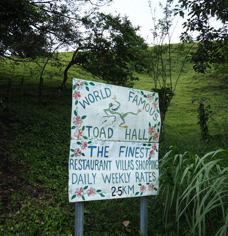 Costa Rica - Toad Hall had incredible signage along the roadside!