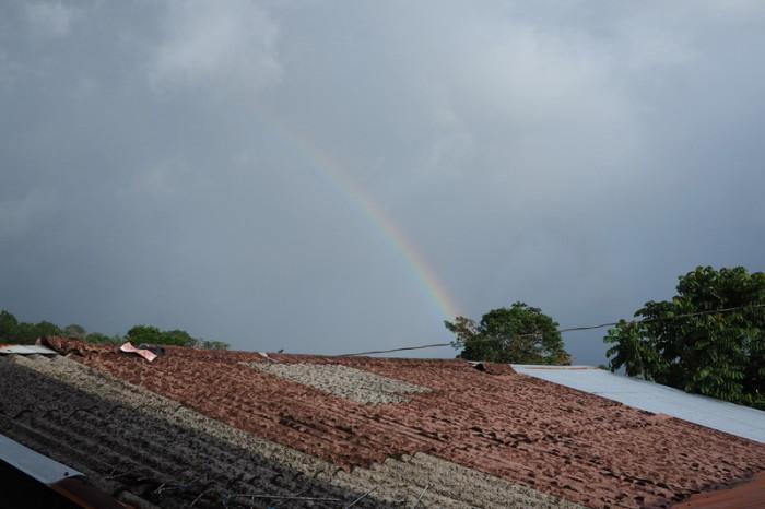 Costa Rica - Rainbow over Laguna de Arenal, Nuevo Arenal, Costa Rica