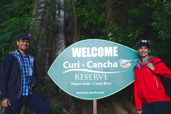 Costa Rica - The start of our bird watching tour at Curi-Cancha Reserve, near Monteverde, Costa Rica