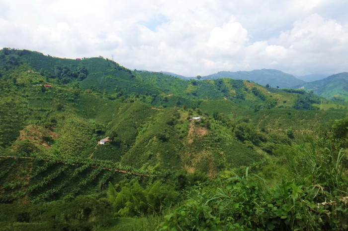 Colombia - Views on the climb up to Manizales