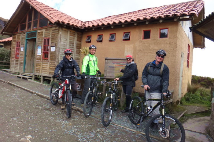 Colombia - The boys ready to hit the downhill, Nevado del Ruiz, near Manizales
