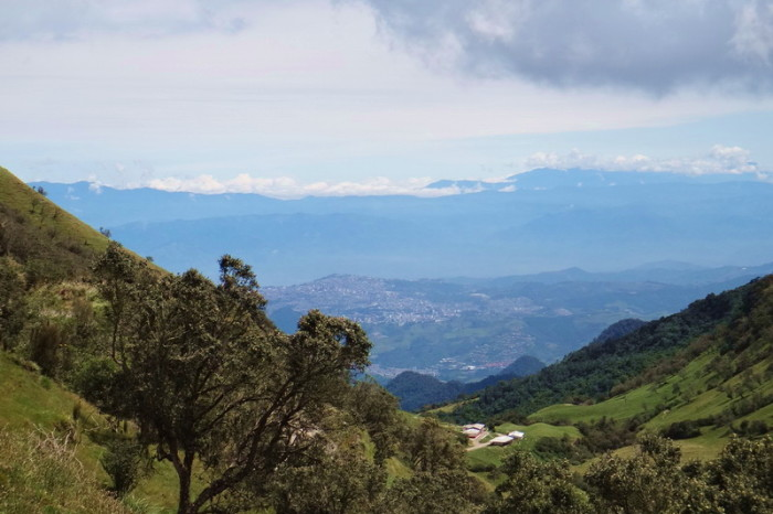 Colombia - Views of Manizales from Nevado del Ruiz