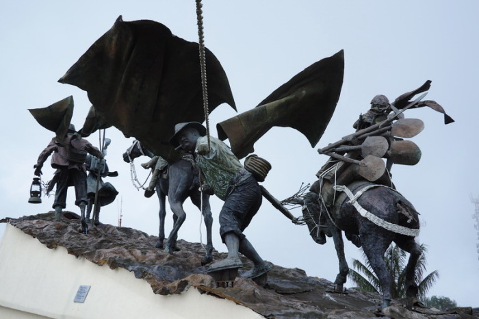 Colombia - The amazing Monumento a los Colonizadores, a sculpture depicting the progression of the people from Medellin to Manizales and the hardships they endured, Manizales