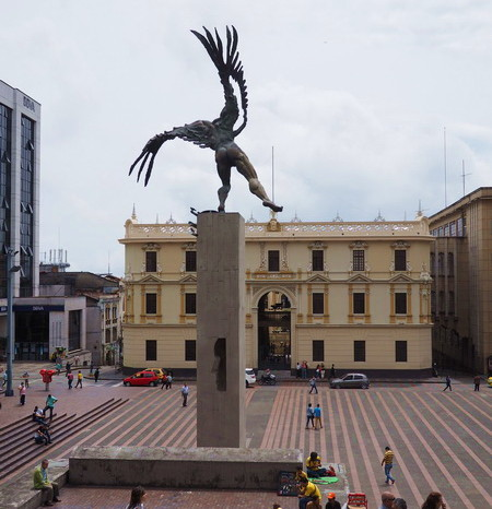 Colombia - The Bolivar-Condor statue, Plaza de Bolívar, Manizales