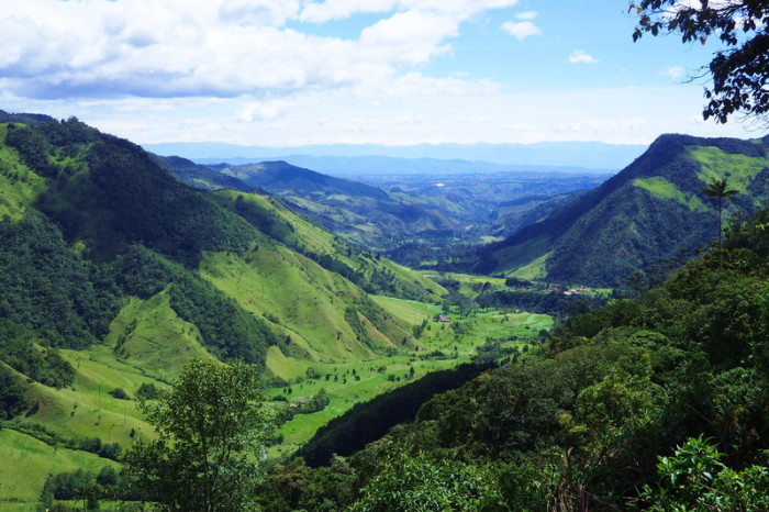 Colombia - Stunning views on the descent into the Valley de Cocora, near Salento