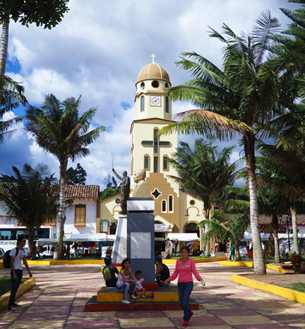 Colombia - The main square in Salento