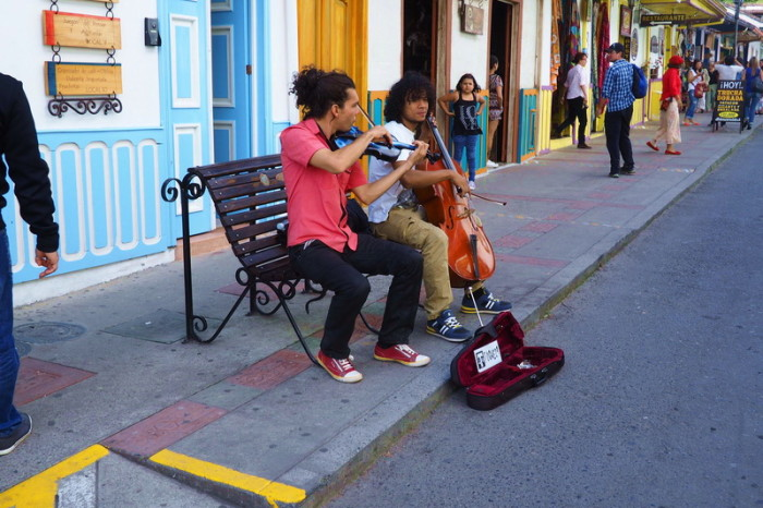 Colombia - Street performers in Salento