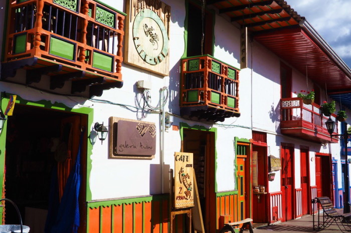 Colombia - Colourful buildings in Salento