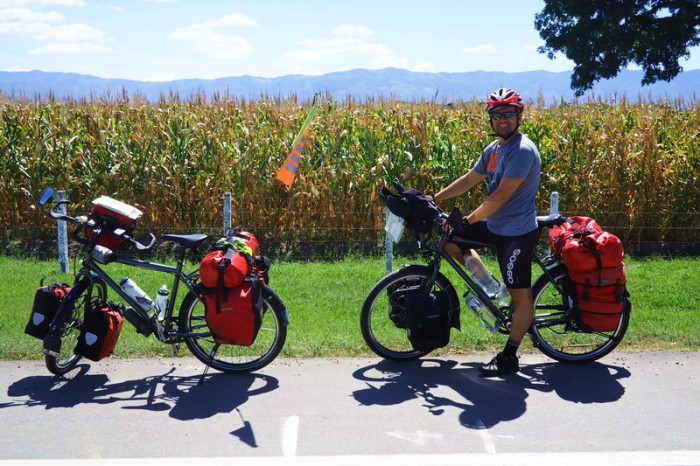 Colombia - We cycled past fields of corn and sugar cane on the way to Popayan