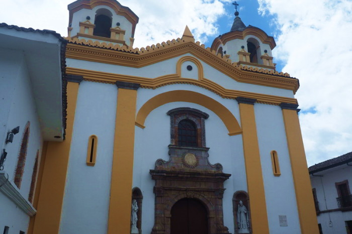 Colombia - One of the many beautiful churches in Popayan
