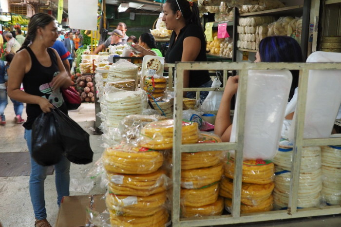 Colombia - Arepa Stall (Arepa is the bread of choice in Colombia)