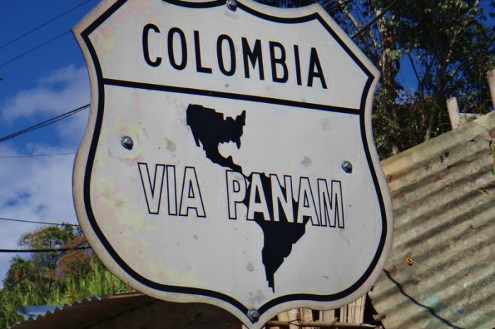 Colombia - For safety, we followed the Pan American Highway through Colombia