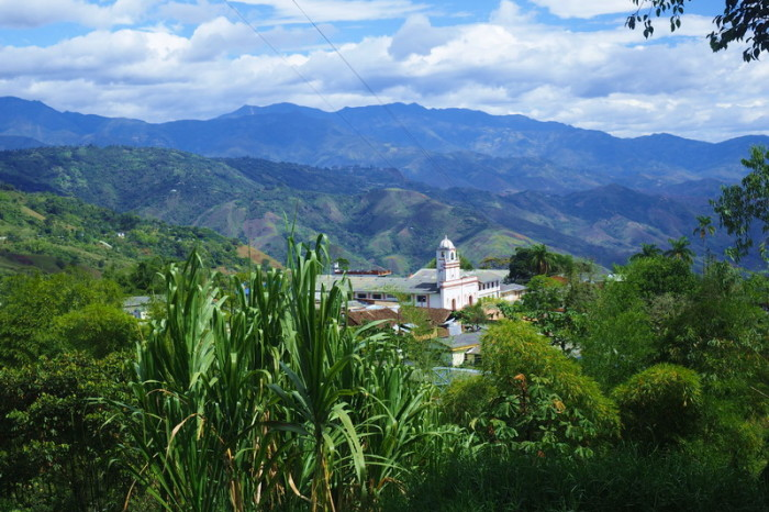 Colombia - View from above the mountain town of Rosas