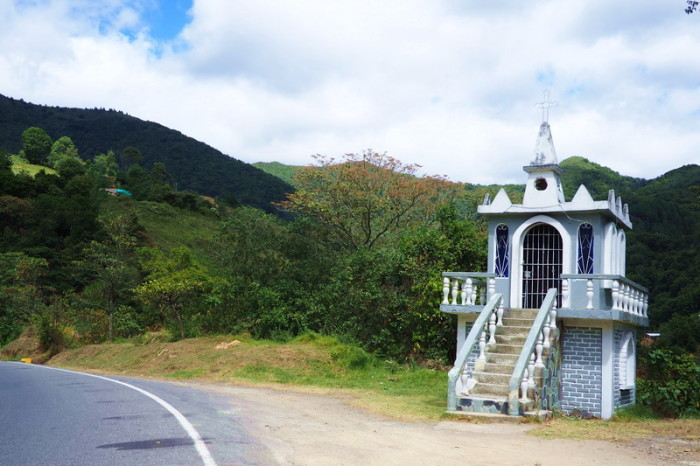 Colombia - Road side shrine on the way to Pasto
