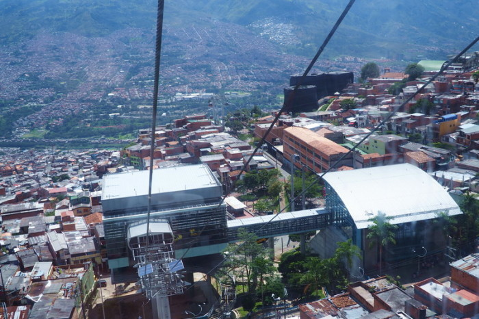 Colombia - Views of Medellin from the cable car, Medellin