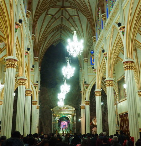 Colombia - Inside the Las Lajas Sanctuary