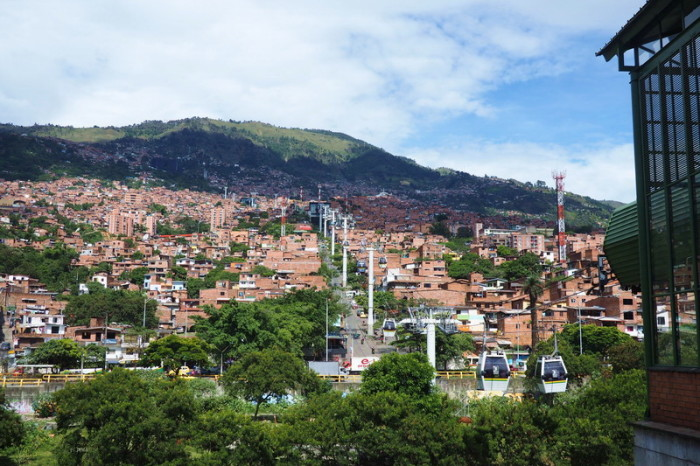 Colombia - Medellin's amazing cable car, Medellin