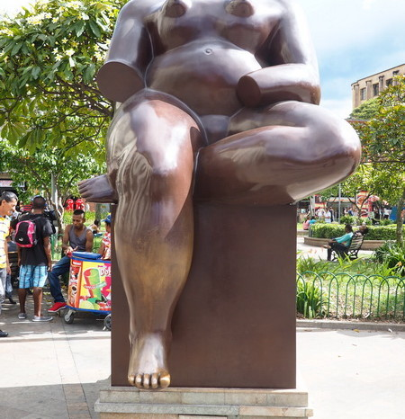 Colombia - One of the fabulous sculptures by Colombian artist Fernando Botero, Plaza Botero, Medellin