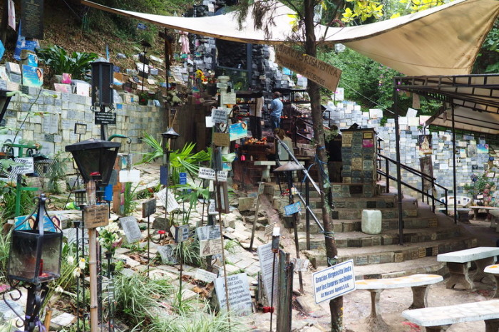 Colombia - Visit to a shrine patronised by Pablo Escobar's drug cartel, Medellin