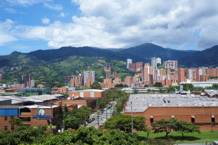 Colombia - View from the cemetery where Pablo Escobar is buried, Medellin