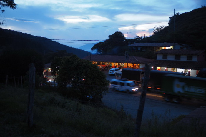 Colombia -  Alto de Minas pass at dusk