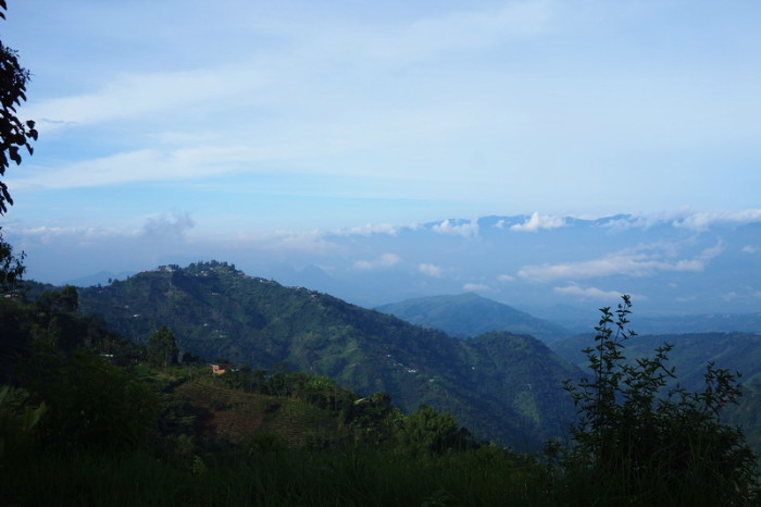 Colombia - Views on our descent from the Alto de Minas pass