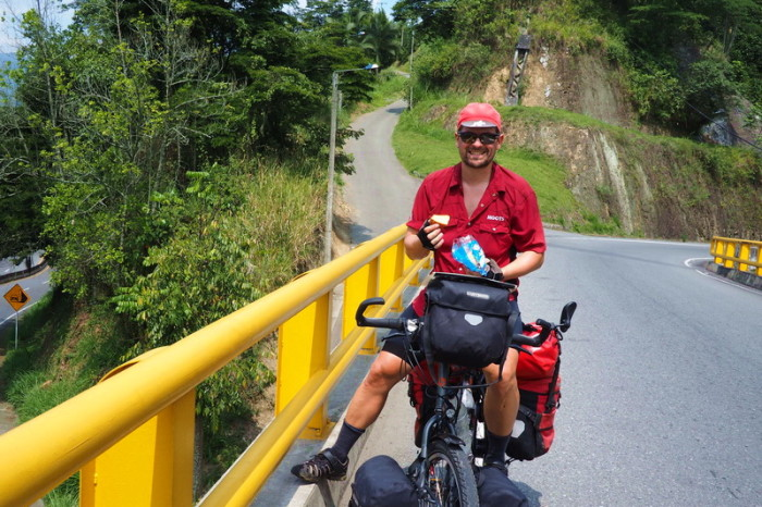 Colombia - David on the way up to Manizales