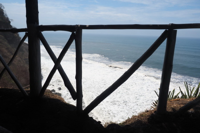 El Salvador - Lunch with a view - the restaurant was perched on a cliff overlooking the ocean