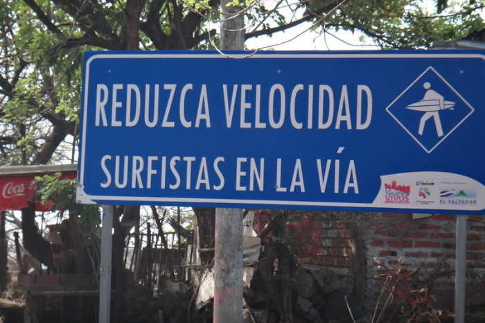 El Salvador - Slow down for surfers!