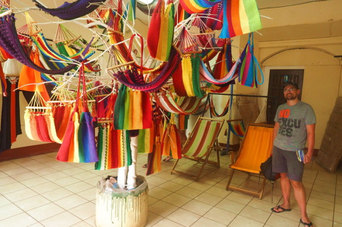 Nicaragua - Visiting Cafe de las Sonrisas, where handicapped staff make beautiful hammocks, Granada, Nicaragua