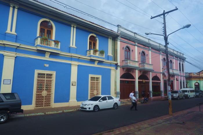 Nicaragua - Pastel coloured  colonial buildings, Granada, Nicaragua