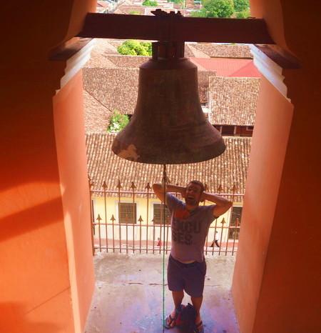 Nicaragua - The bell tower, Iglesia de la Merced, Granada, Nicaragua
