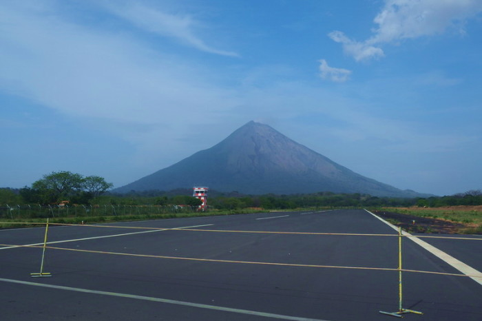 Nicaragua - Concepción Volcano, viewed from the runway on Ometepe Island, Nicaragua
