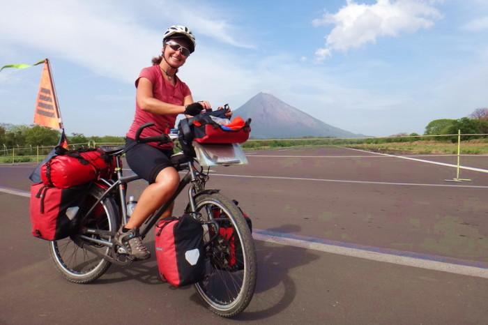 Nicaragua - Concepción Volcano, viewed from the runway on Ometepe Island, Nicaragua