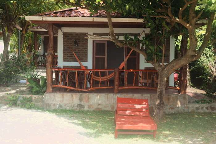 Nicaragua - Our little beach front cabin, Santo Domingo Beach, Ometepe Island, Nicaragua