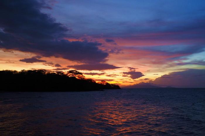 Nicaragua - Sunset at the Altagracia Port, Ometepe Island, Nicaragua
