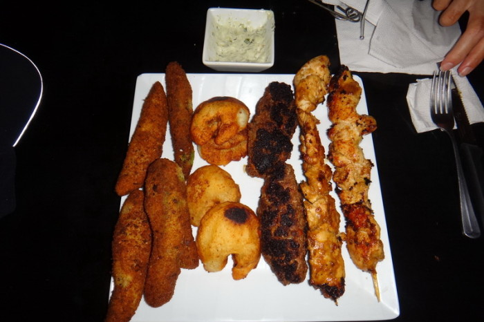 "Nicaragua - The Camello Platter which includes ""camel toes"" and avocado fries!"