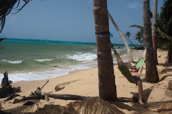 Nicaragua - The beach at Yemaya, Little Corn Island, Nicaragua
