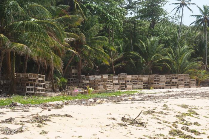 Nicaragua - Lobster traps, Little Corn Island, Nicaragua