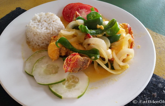Nicaragua - Yummy Lobster lunch at The Shack, Little Corn Island, Nicaragua